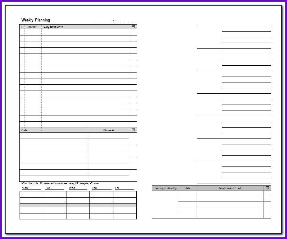 Franklin Planner Template For Word