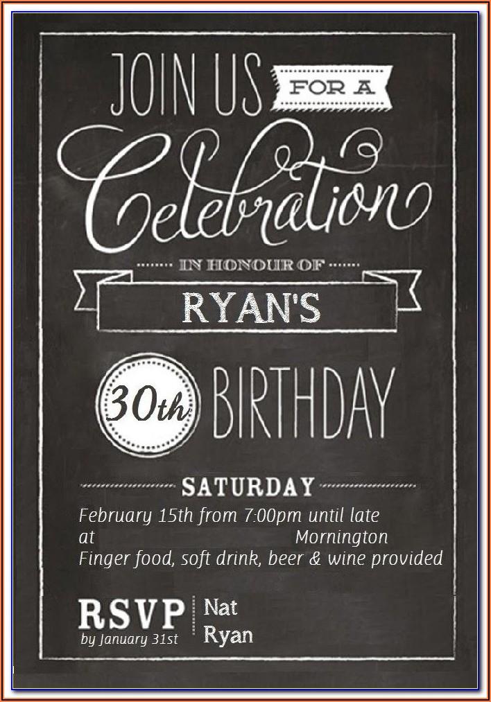 Free 30th Birthday Invitation Templates Word