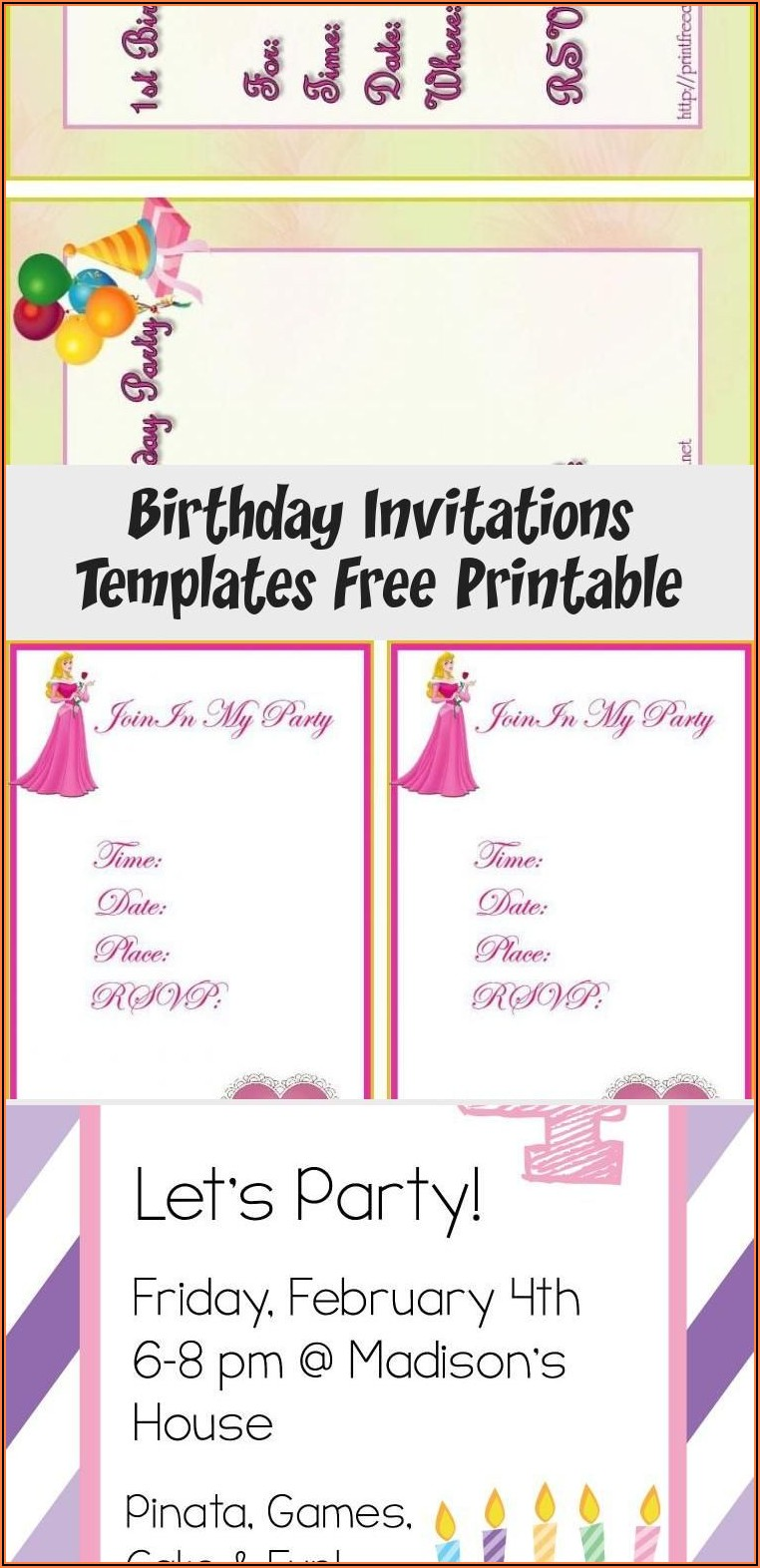 Free Birthday Card Invitations Online