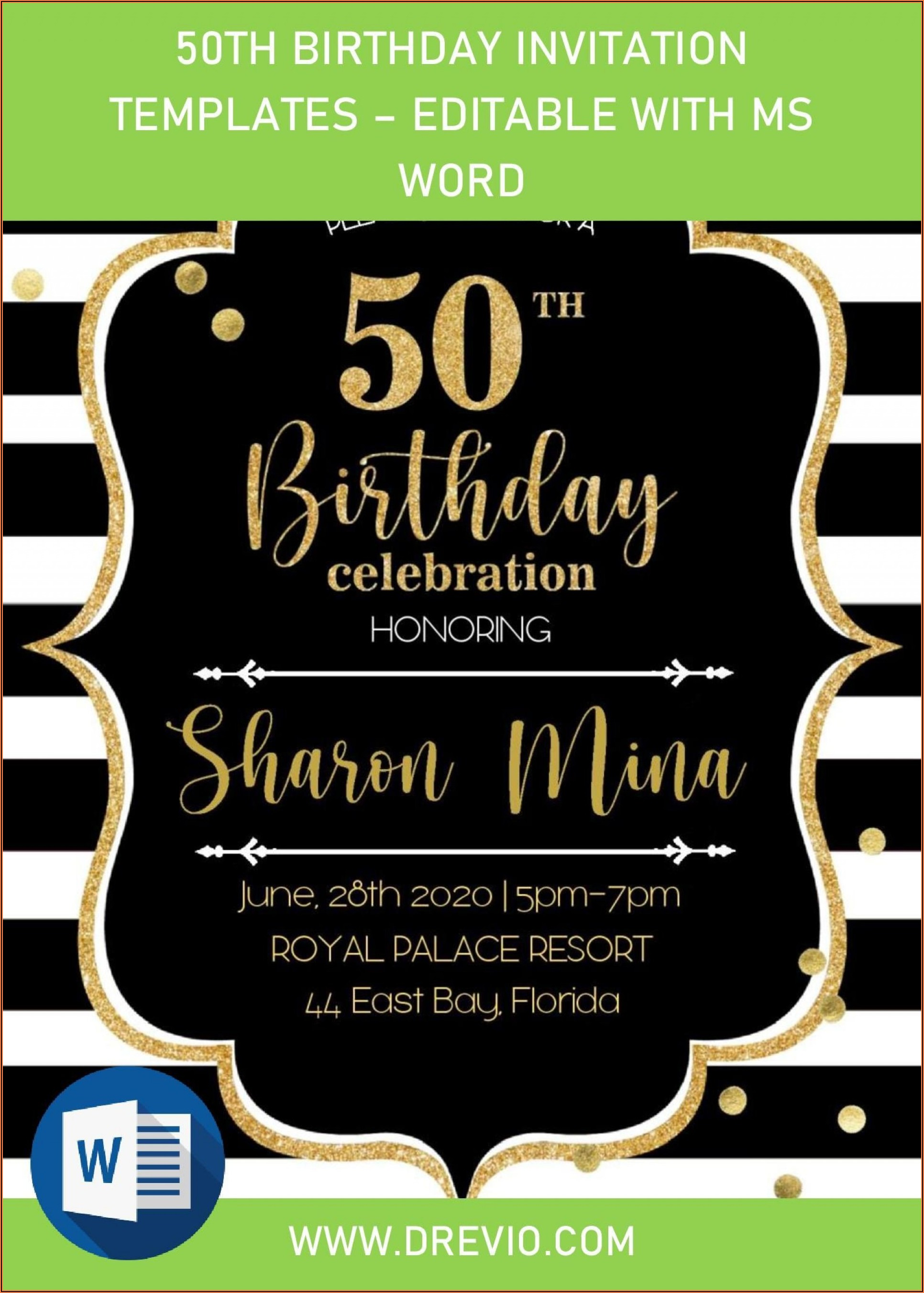 Free Birthday Invitation Template Word