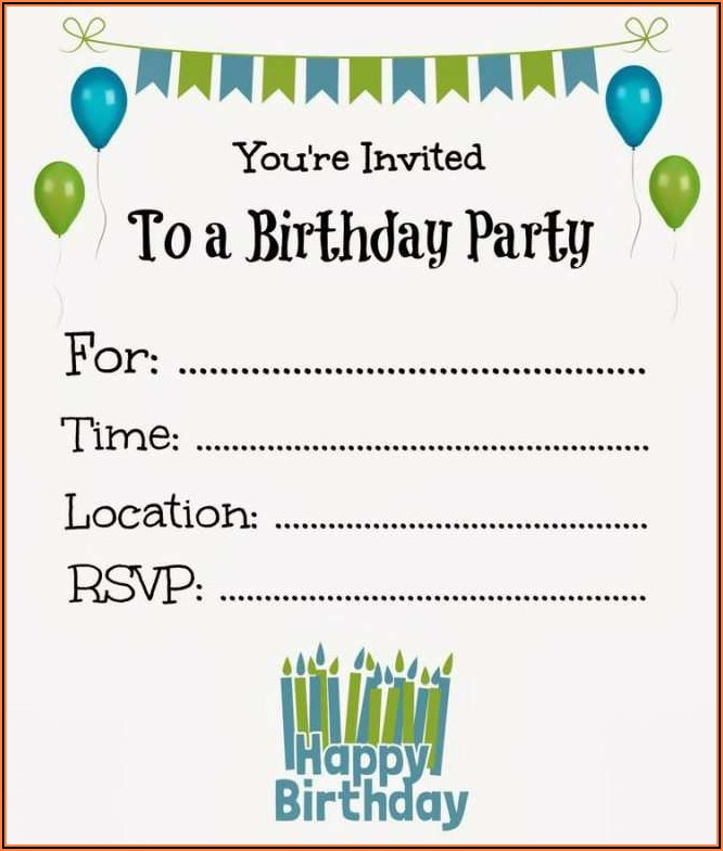 Free Birthday Invitation Templates Boy