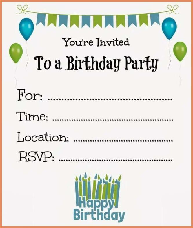 Free Birthday Invitation Templates Boy