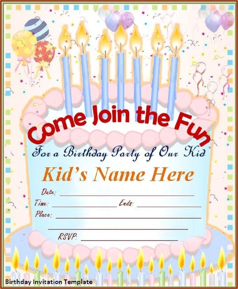 Free Birthday Invitation Templates Editable