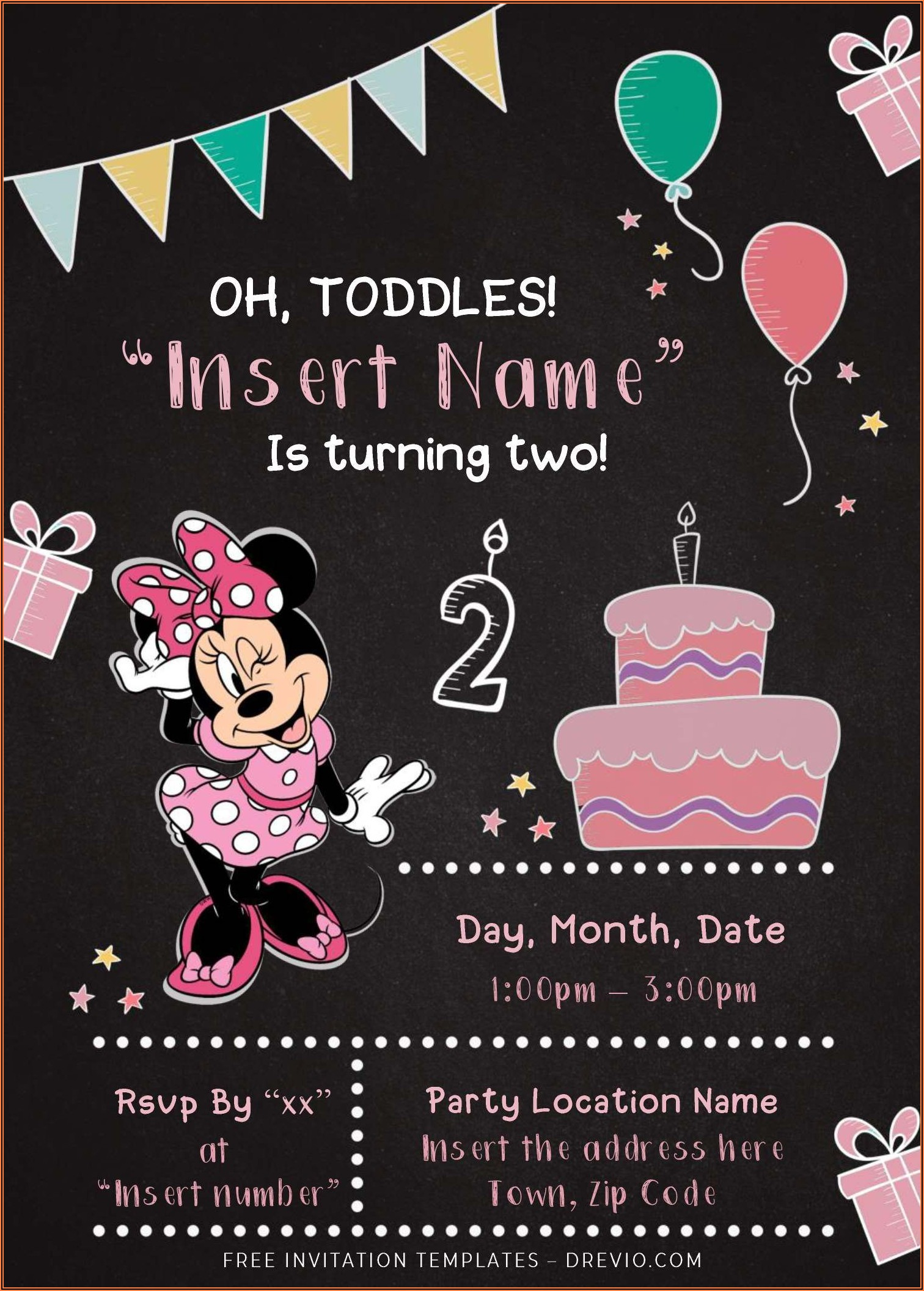Free Birthday Invitation Templates For Word