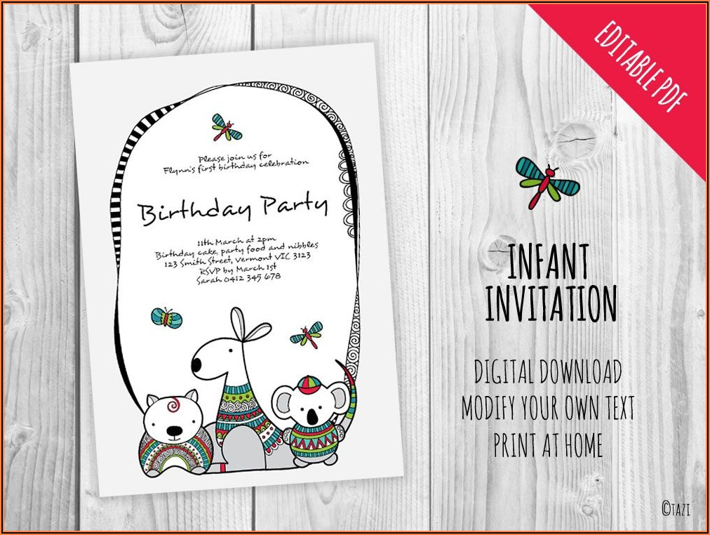 Free Birthday Invitations Online Australia
