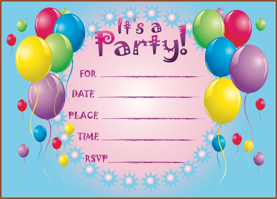 Free Birthday Invitations Online