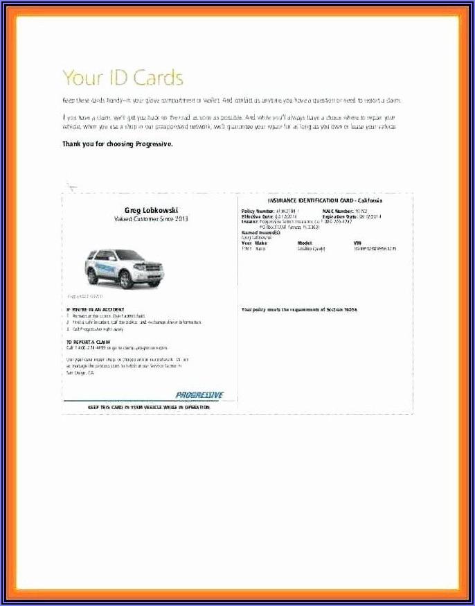 Free Blank Insurance Card Template