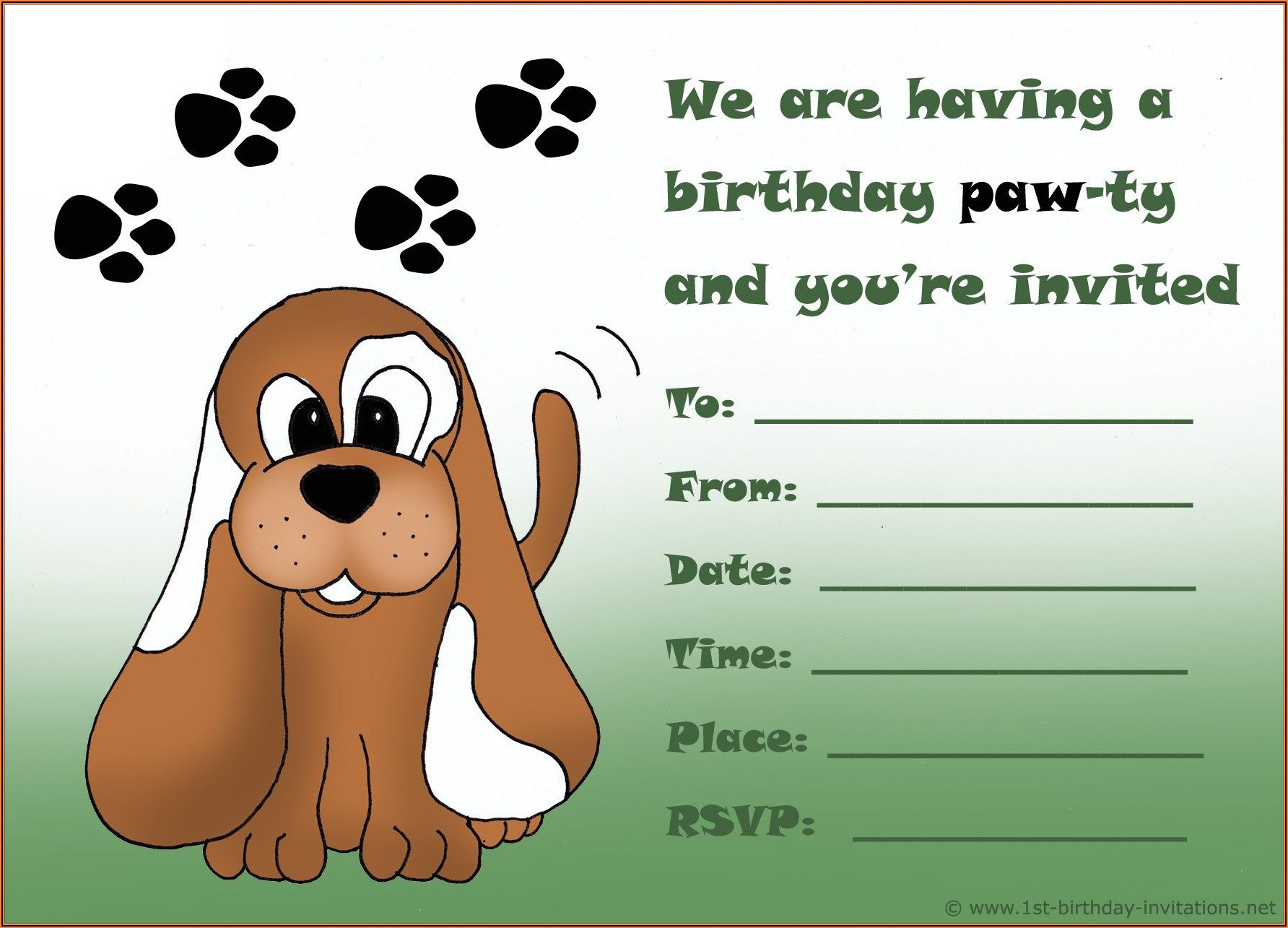 Free Boy Birthday Invitations Printable