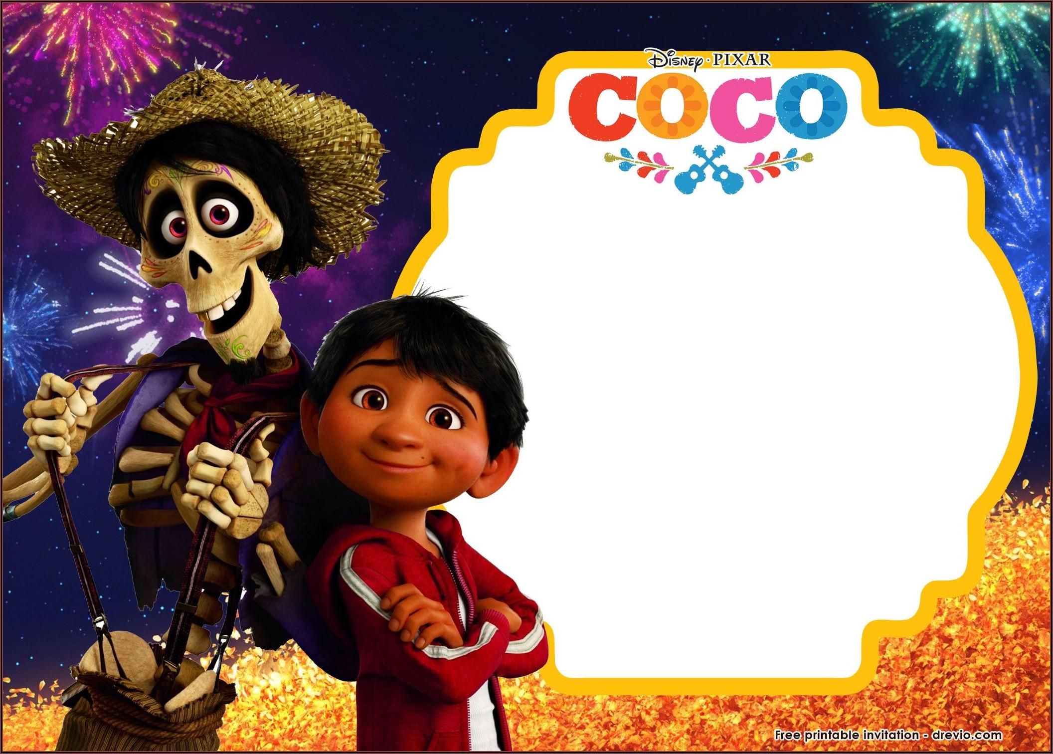 Free Coco Birthday Invitation Templates