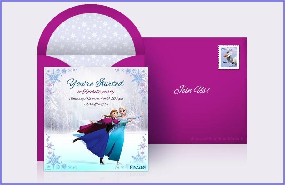 Free Custom Frozen Birthday Invitations