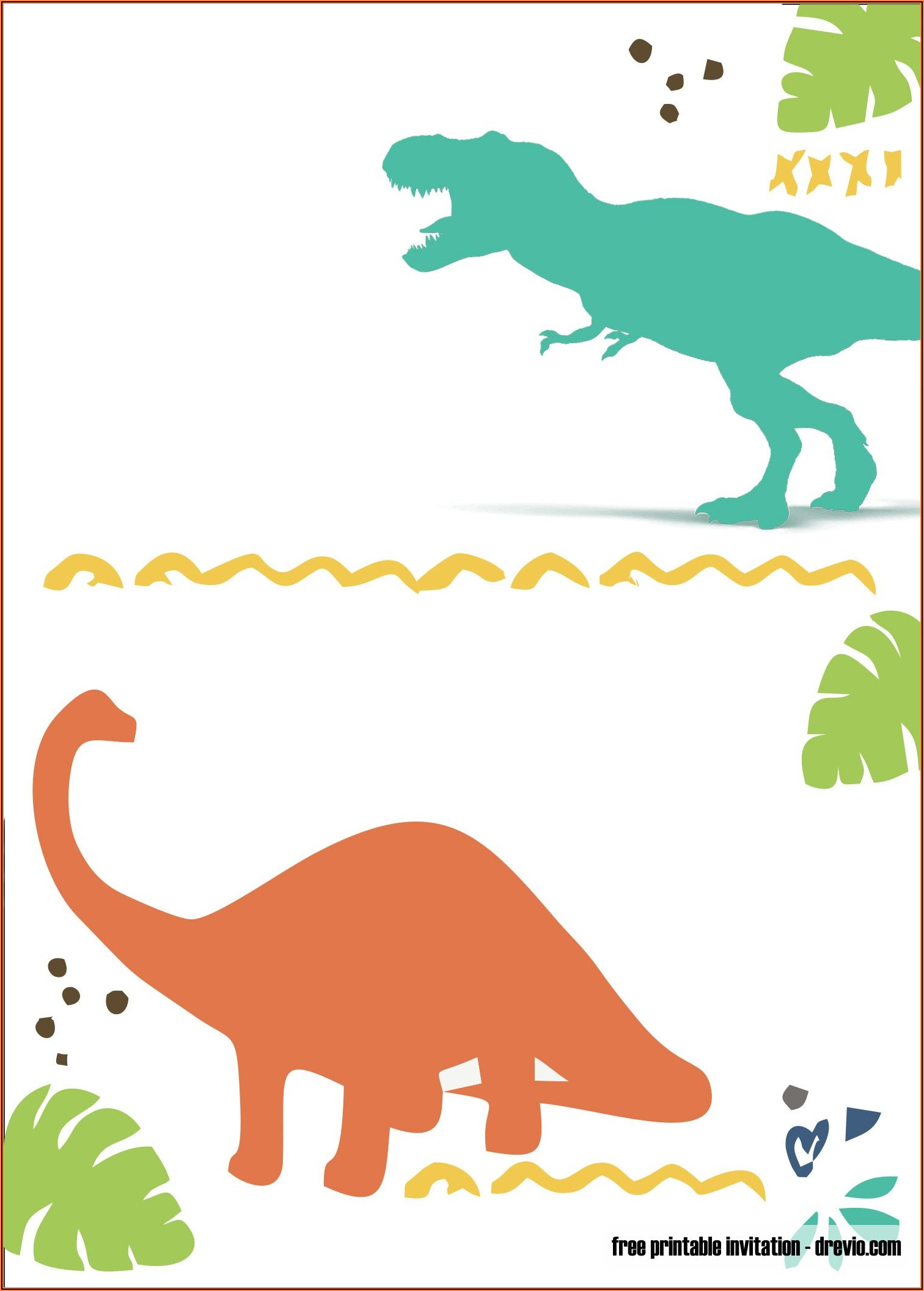 Free Dinosaur Birthday Invitations Printables