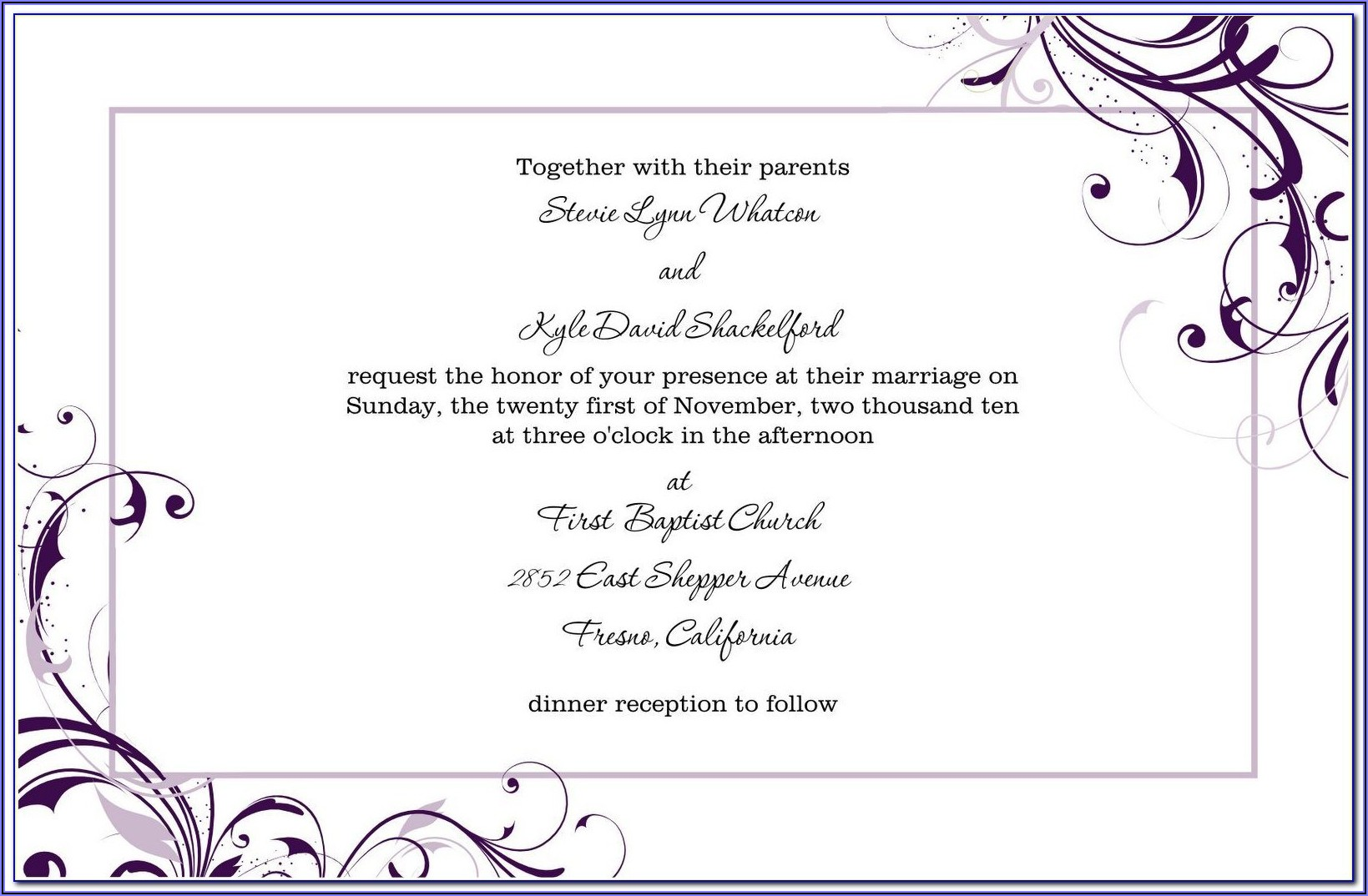 Free Download Wedding Invitation Templates Microsoft Word