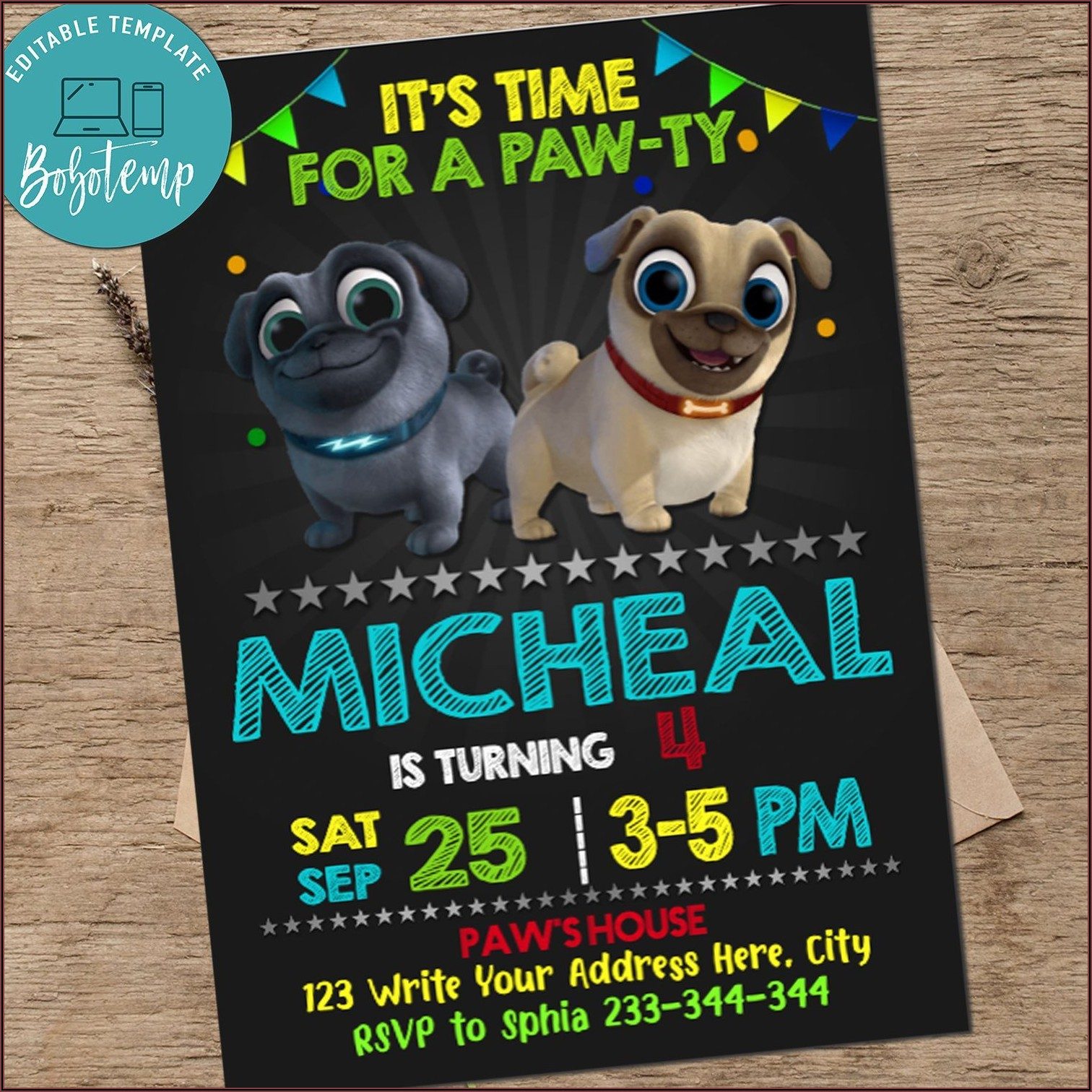 Free Downloadable Puppy Dog Pals Invitations
