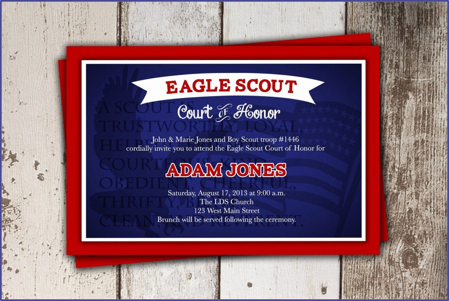 Free Eagle Scout Court Of Honor Invitations