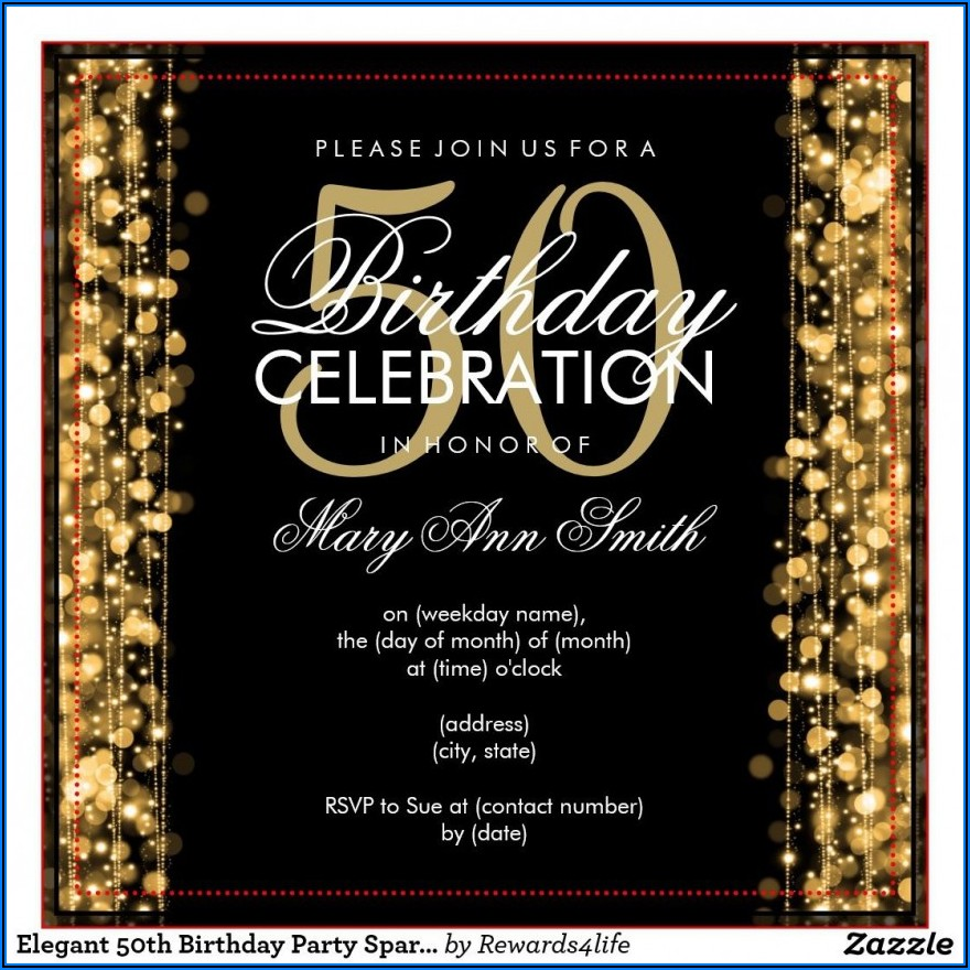 Free Editable 50th Birthday Invitation Templates