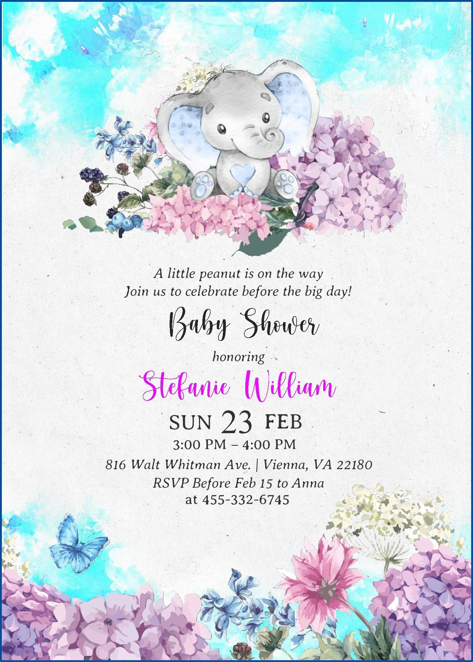 Free Editable Baby Birthday Invitation Templates