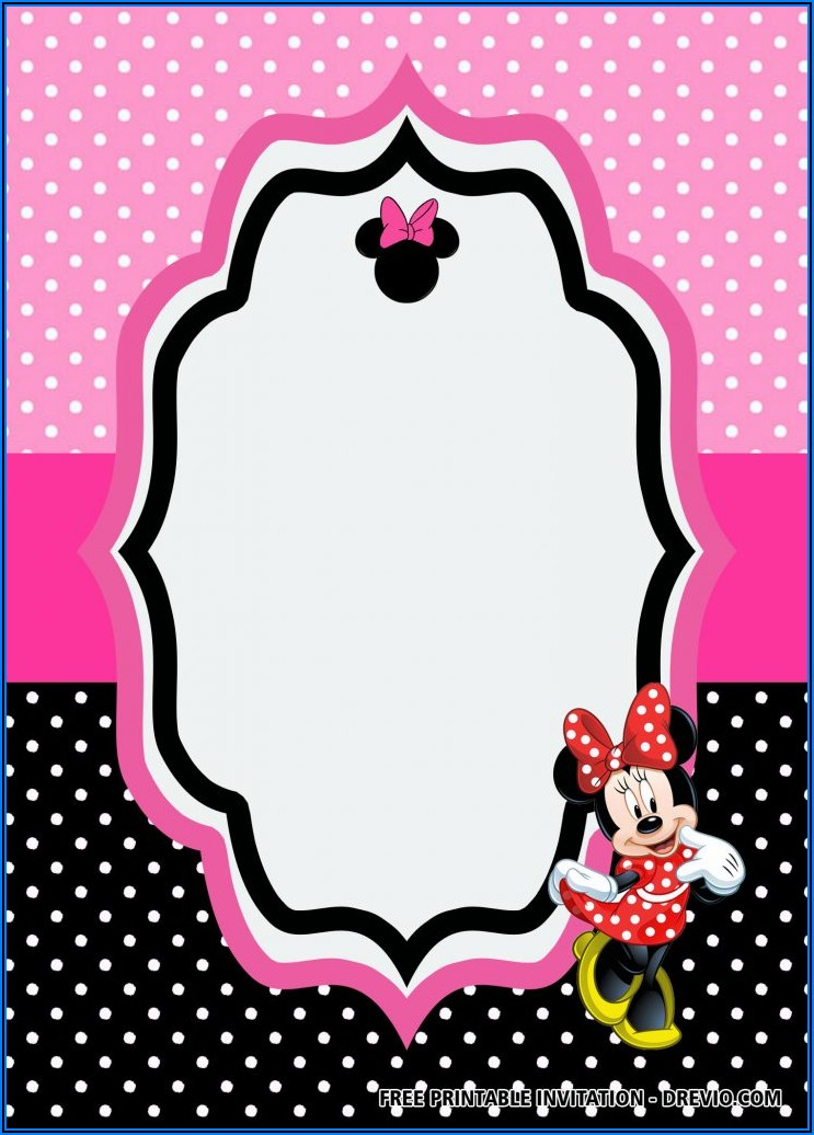 Free Editable Minnie Mouse Birthday Invitation Templates