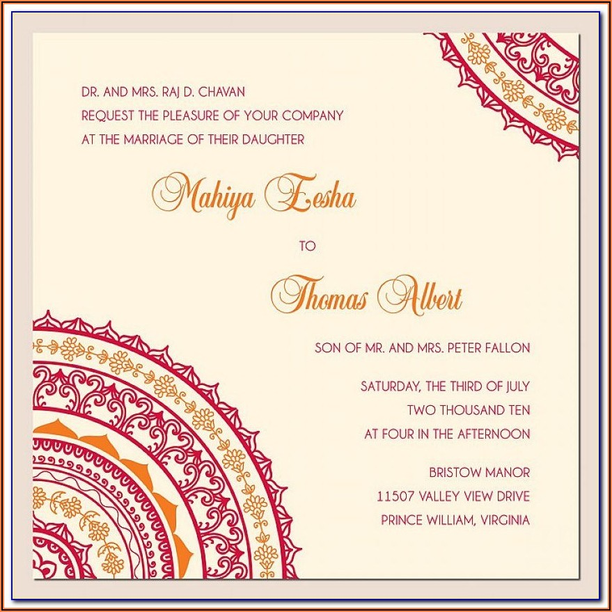 Free Engagement Invitation Templates Online India