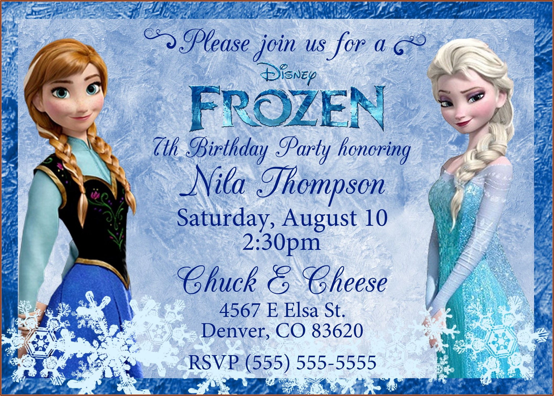 Free Frozen Birthday Invitations Online