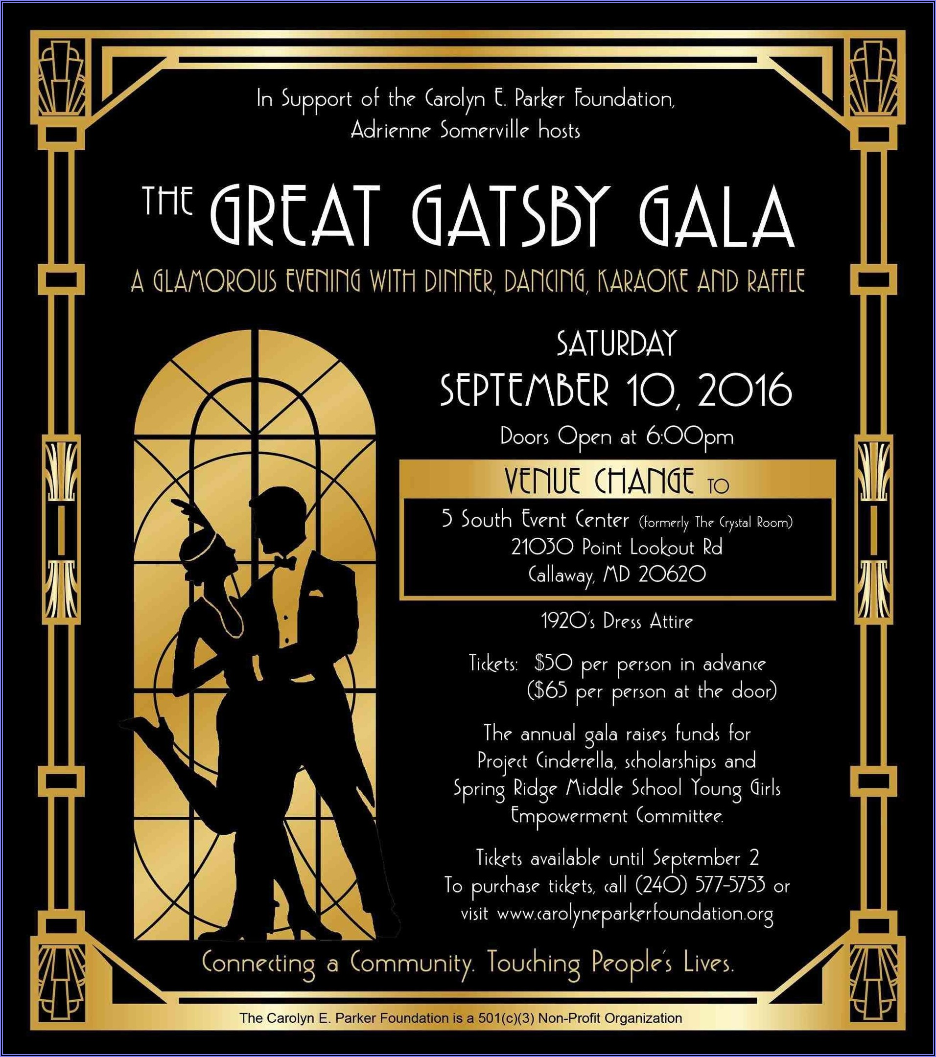 Free Gatsby Invitation Template