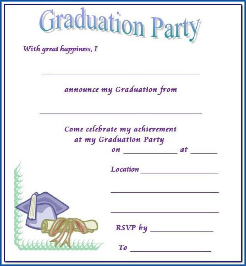 Free Graduation Invitation Templates For Publisher