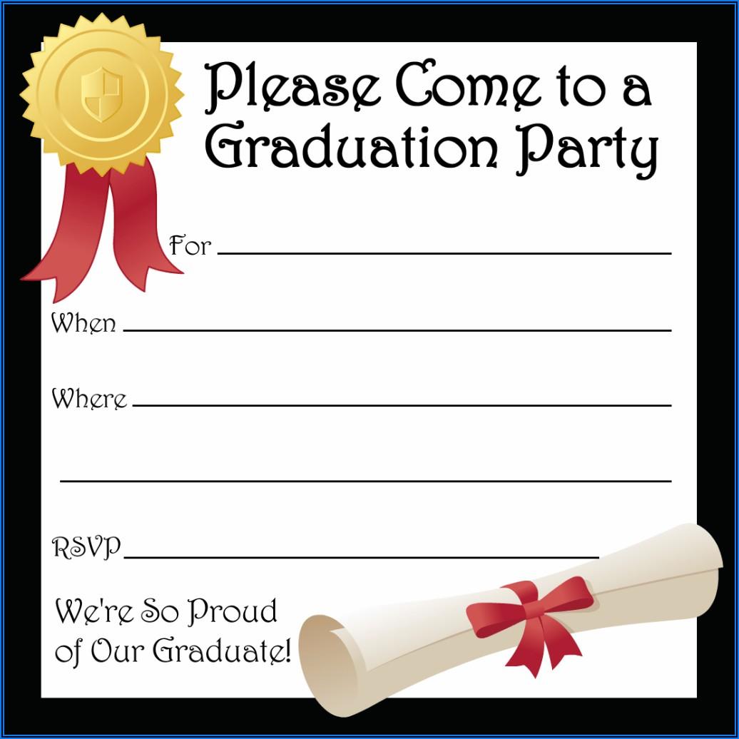 Free Graduation Invitation Templates Printable