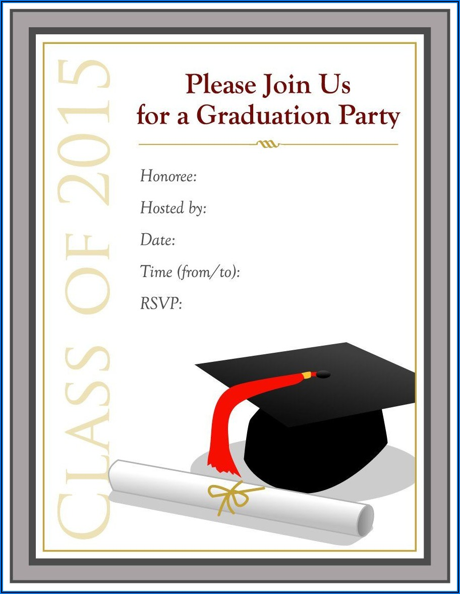 Free Graduation Invitation Templates
