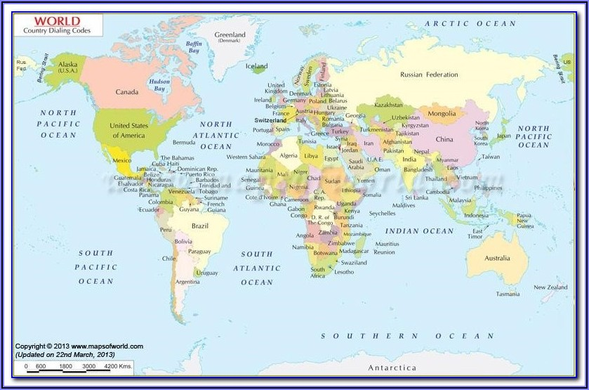 Free Interactive World Map With Countries