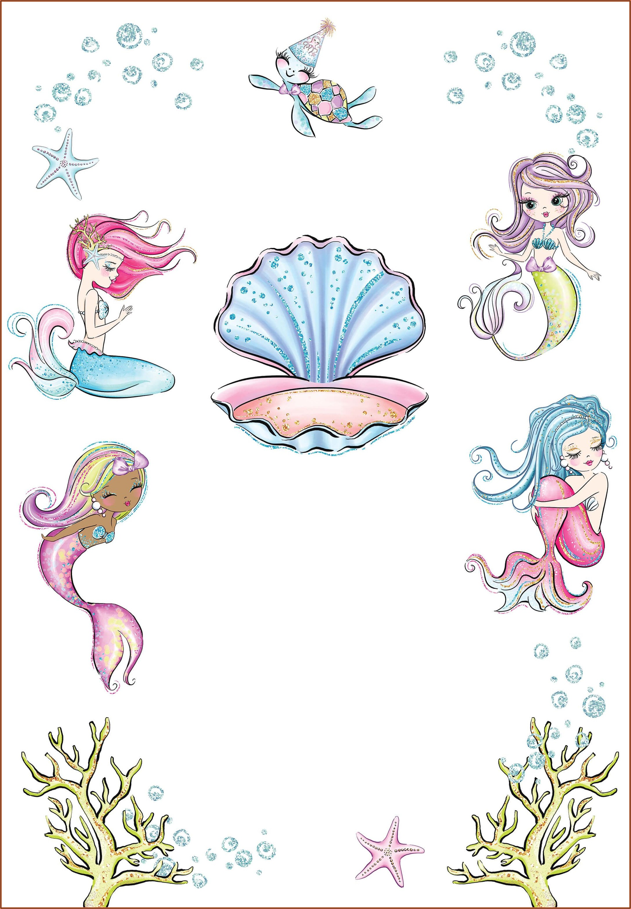 Free Invitation Template Mermaid