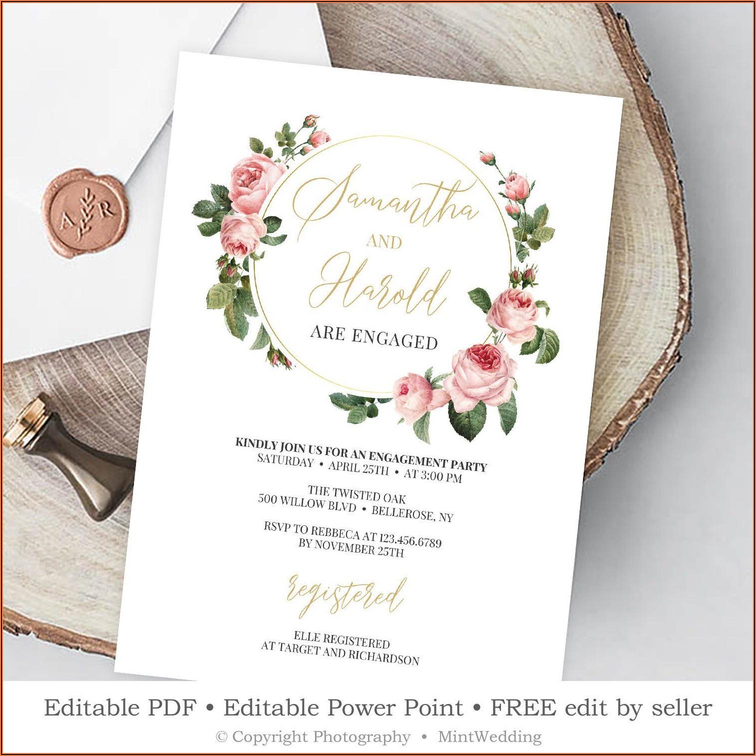 Free Invitation Templates Editable