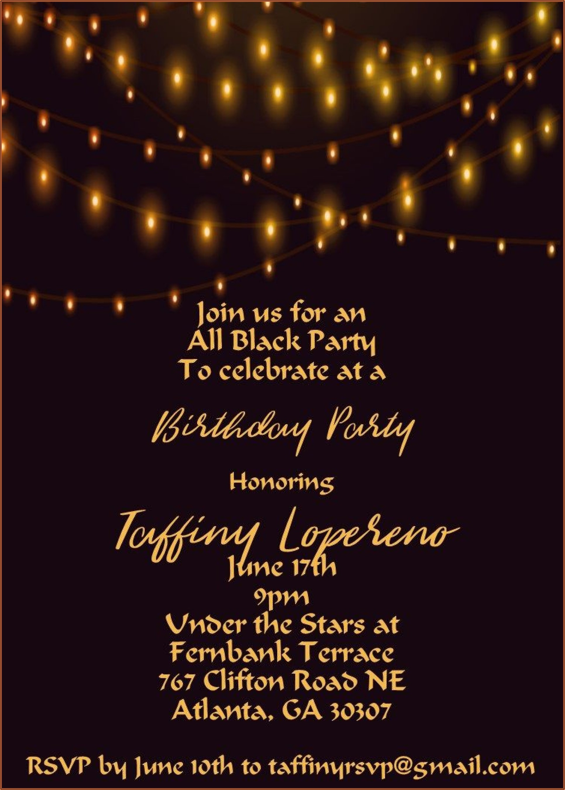 Free Invitation Templates For 21st Birthday