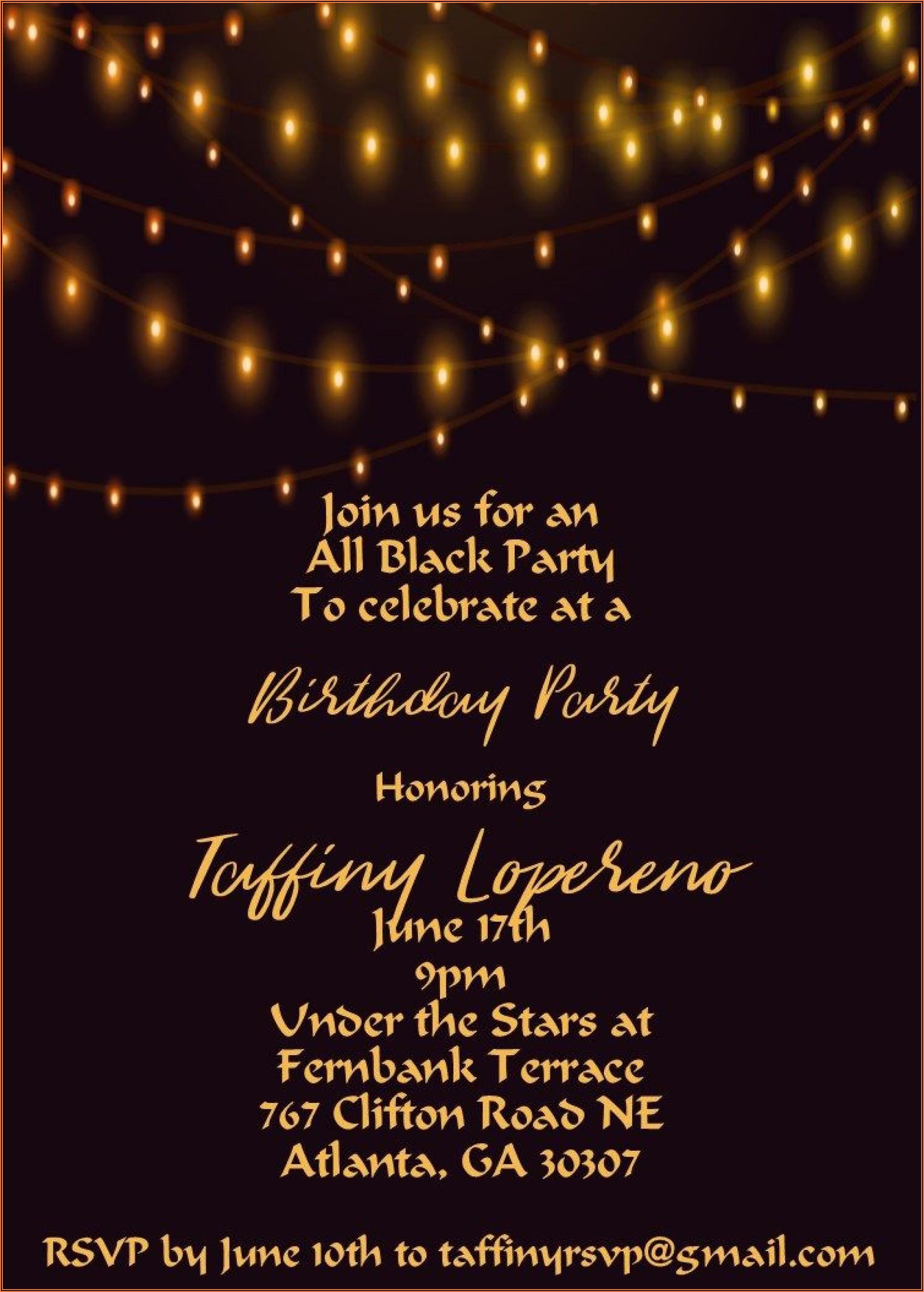 Free Invitation Templates For 21st Birthday