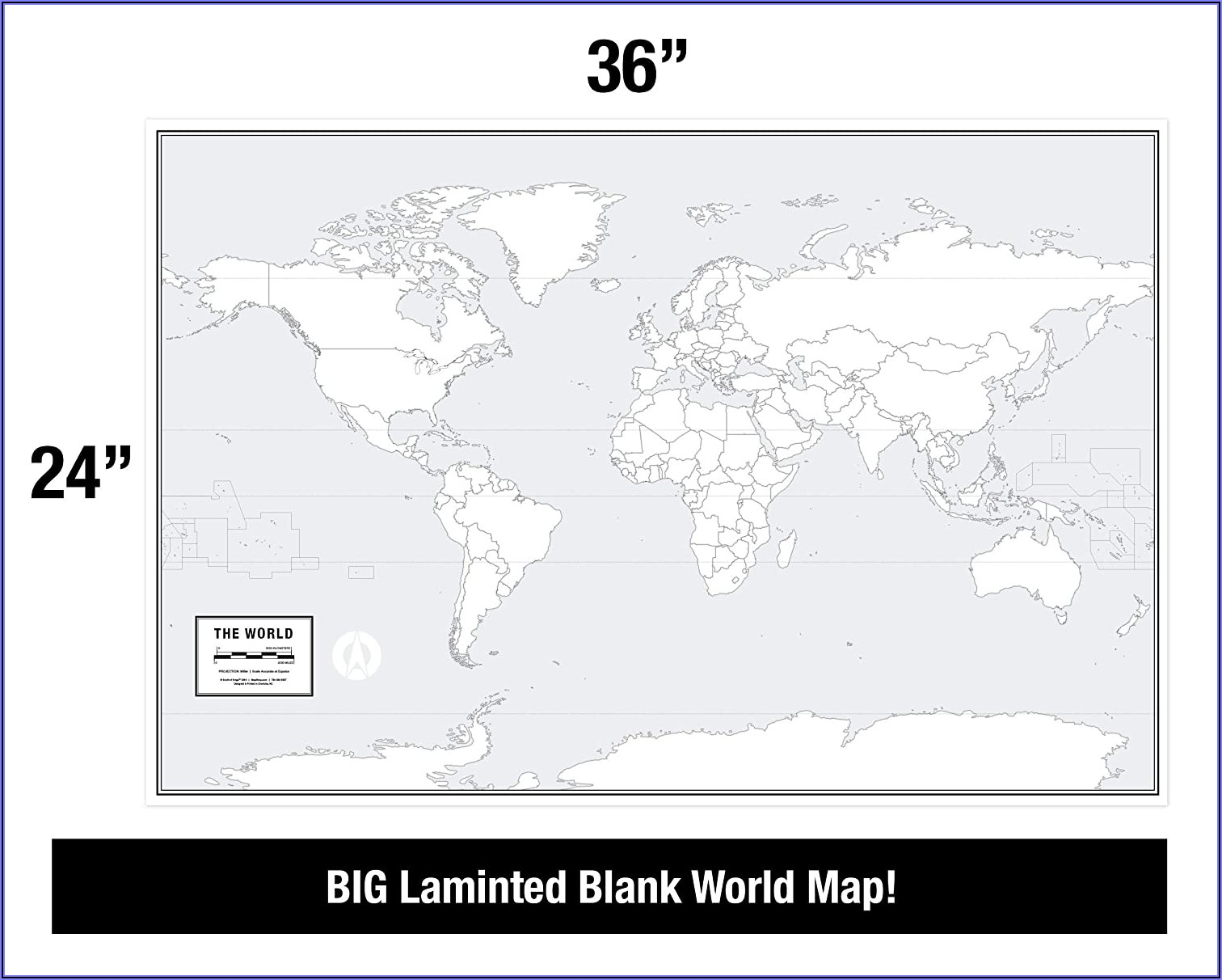 Free Large Blank World Map