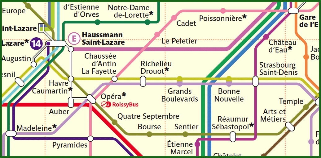 Free Map Of Paris Metro