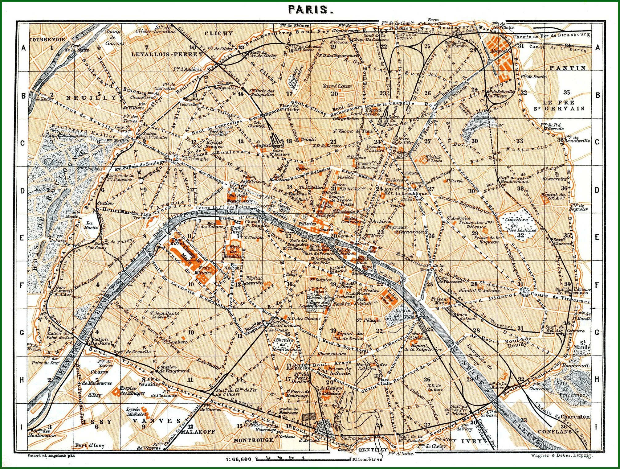 Free Map Of Paris
