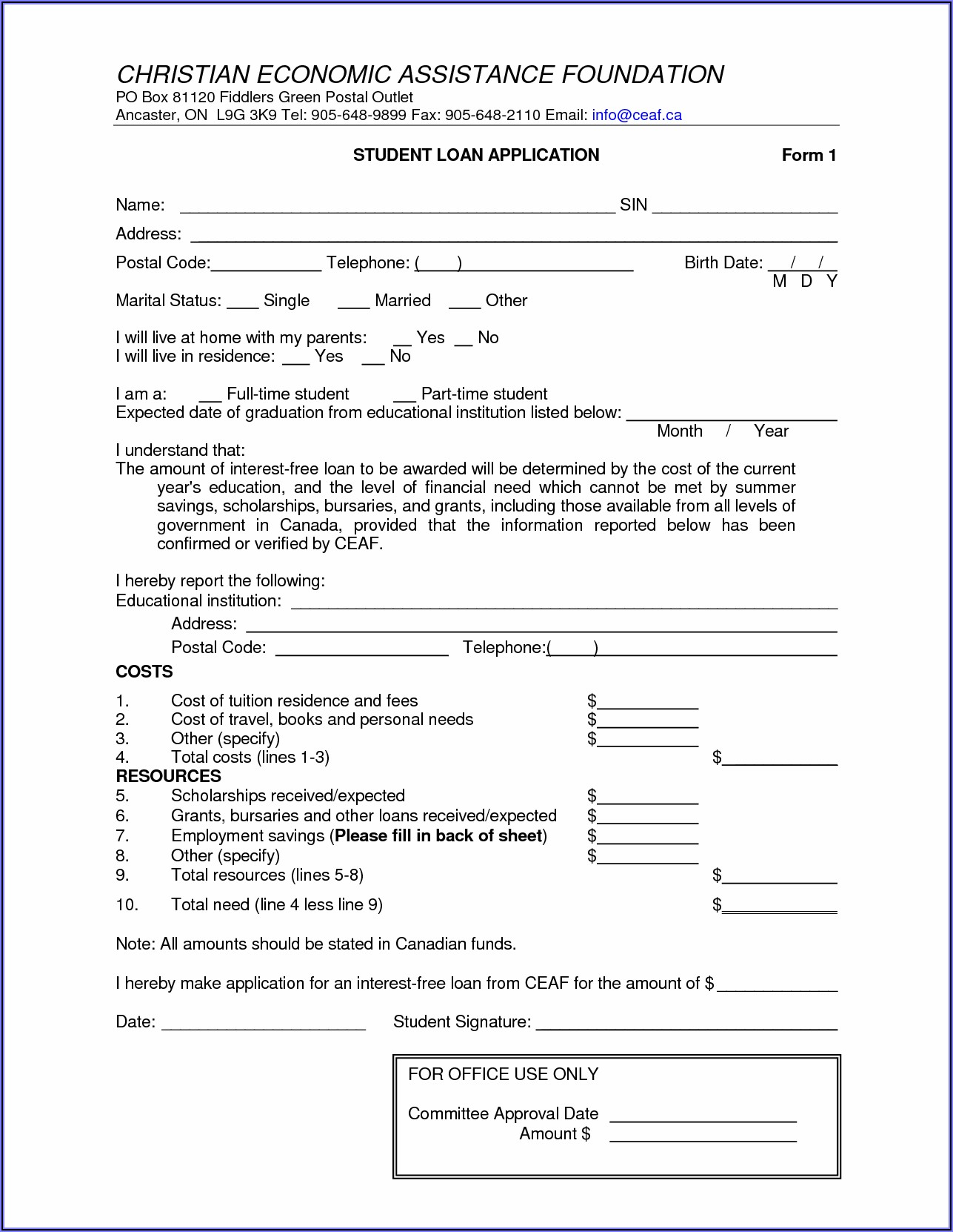 Free Online Loan Agreement Template