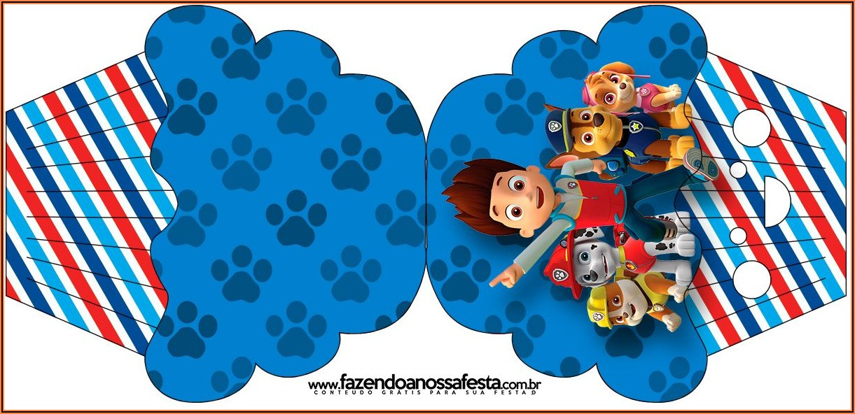 Free Paw Patrol Birthday Invitations Printables