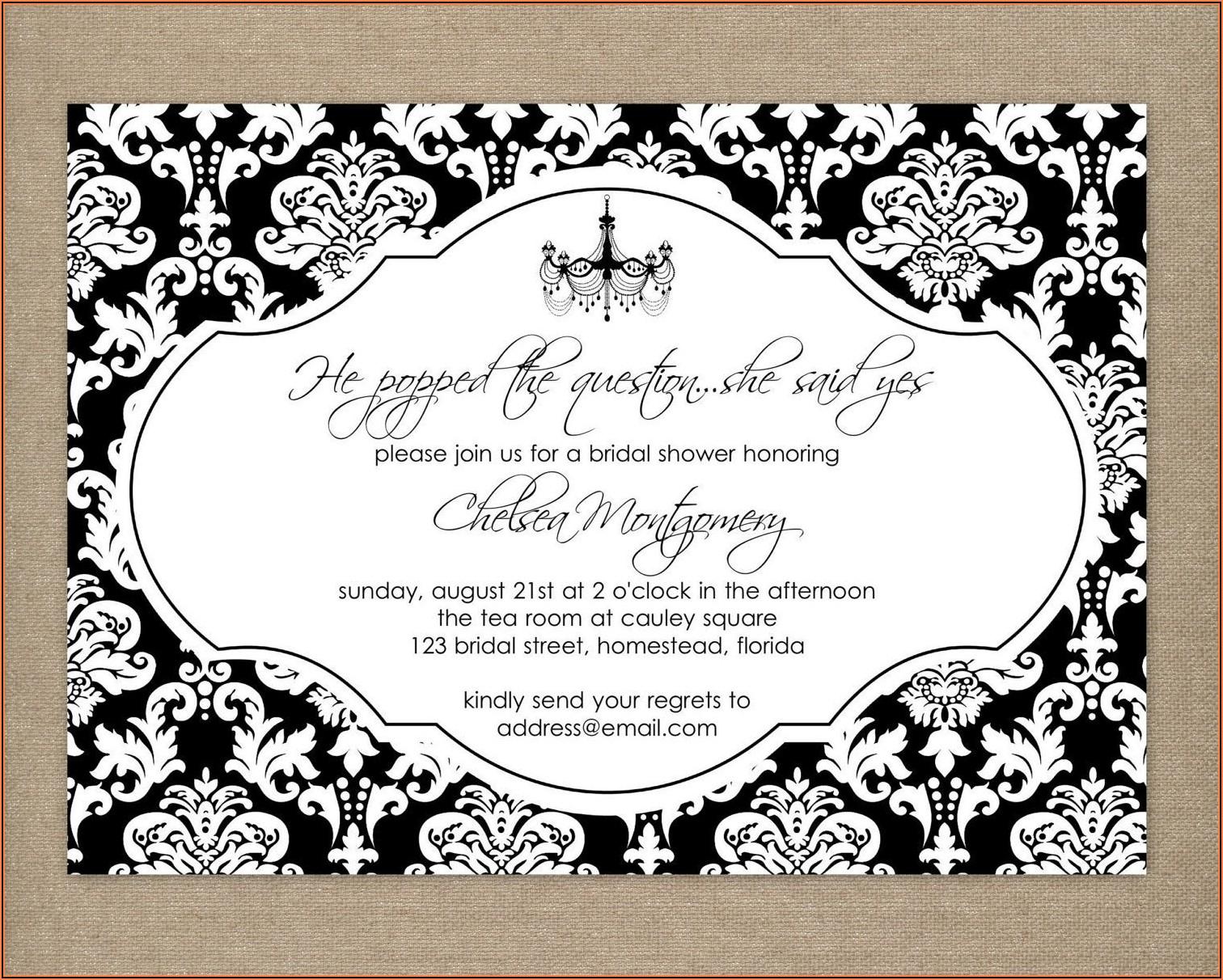 Free Printable Birthday Invitation Templates Black And White