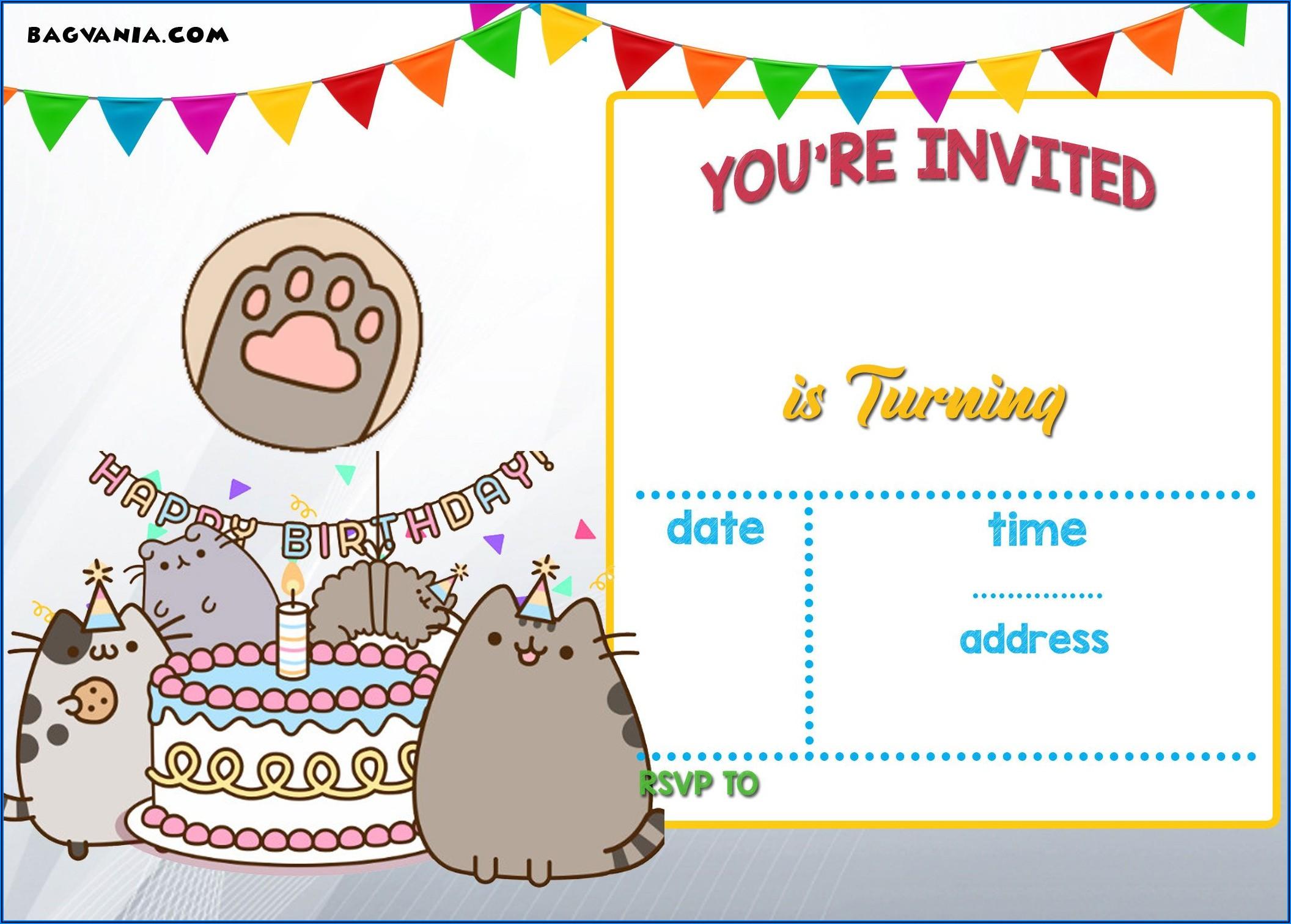 Free Printable Birthday Invitation Templates Pdf