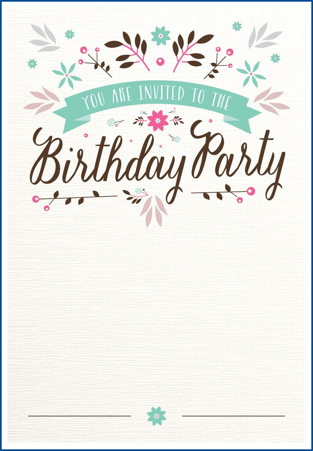 Free Printable Birthday Invitations Templates With Photo