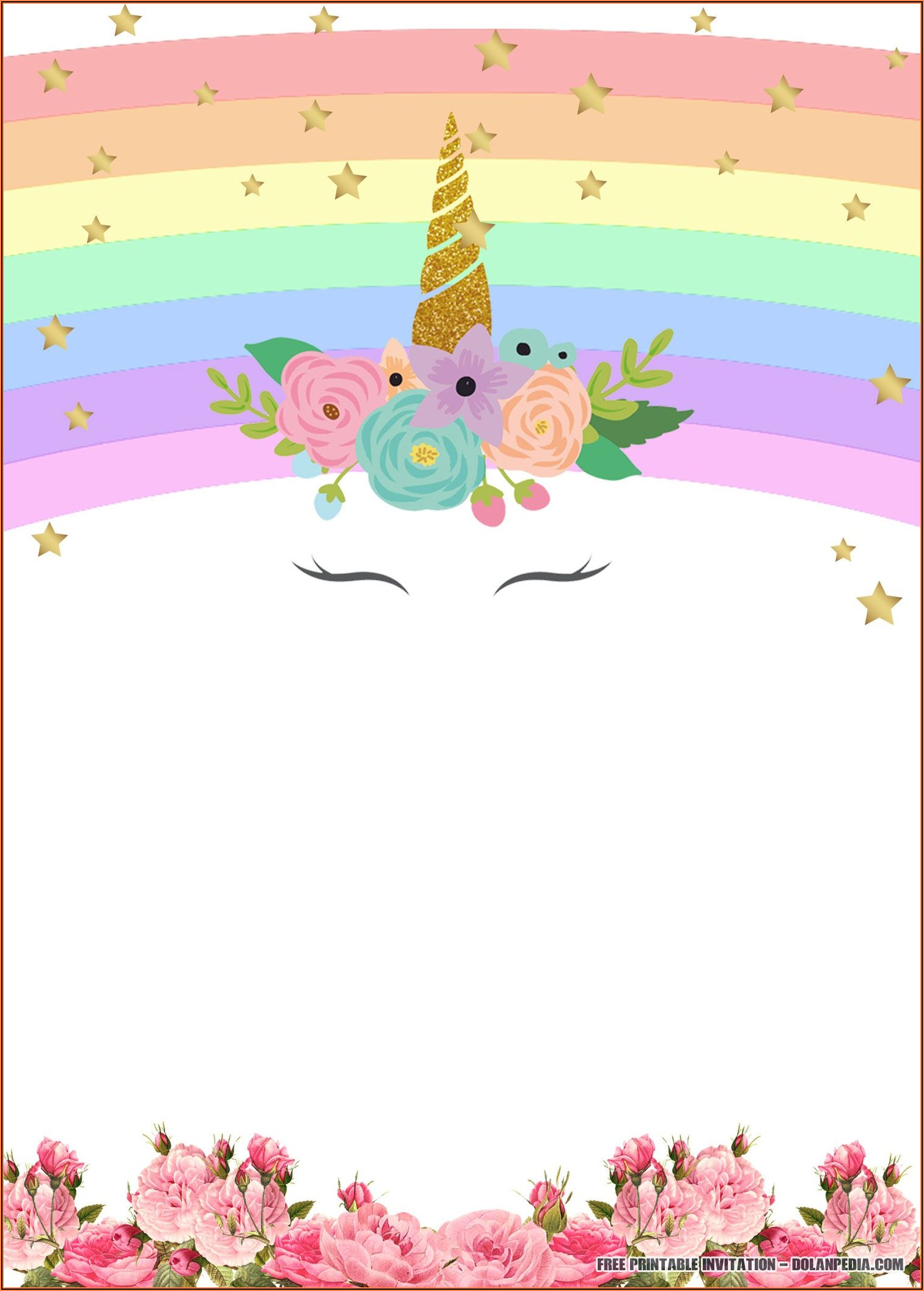 Free Printable Birthday Invitations Unicorn
