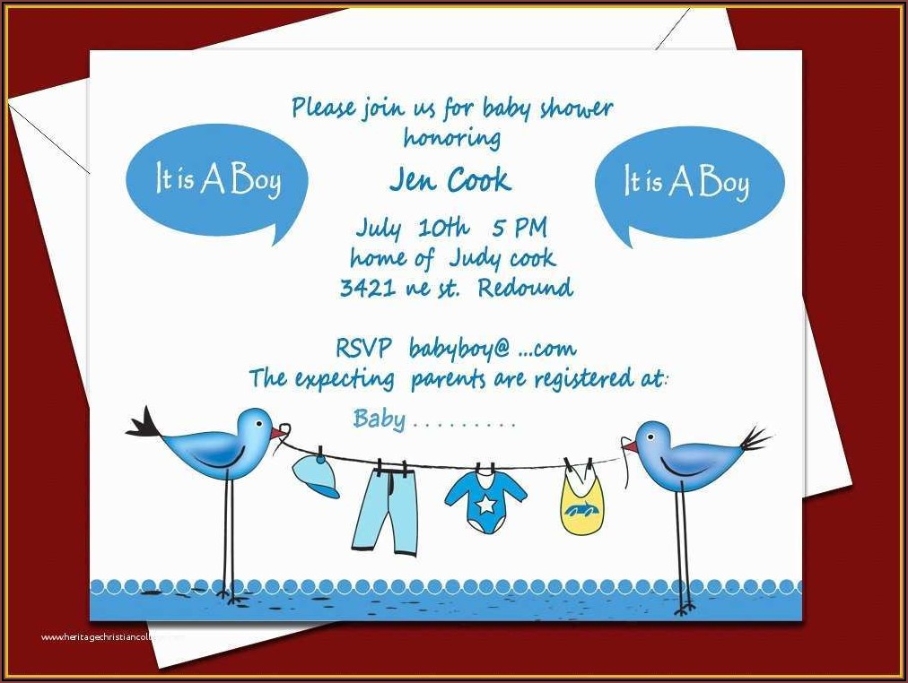 Free Printable Boy Baby Shower Invitations Templates