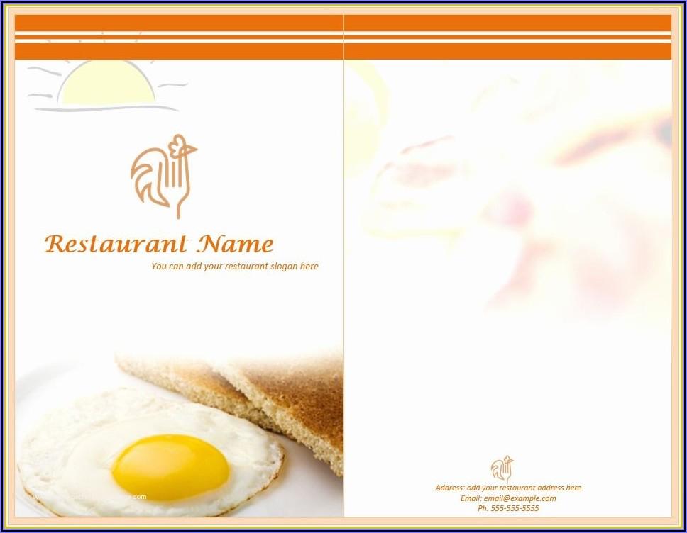 Free Printable Breakfast Menu Template