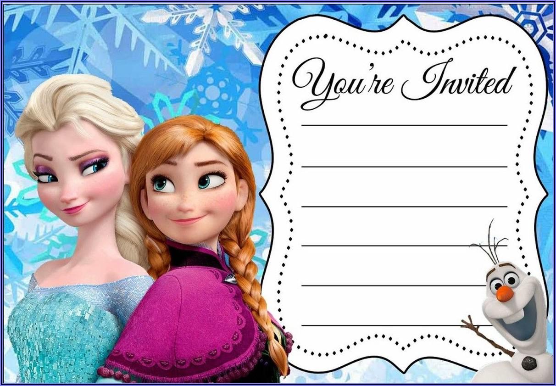 Free Printable Disney Frozen Birthday Party Invitations