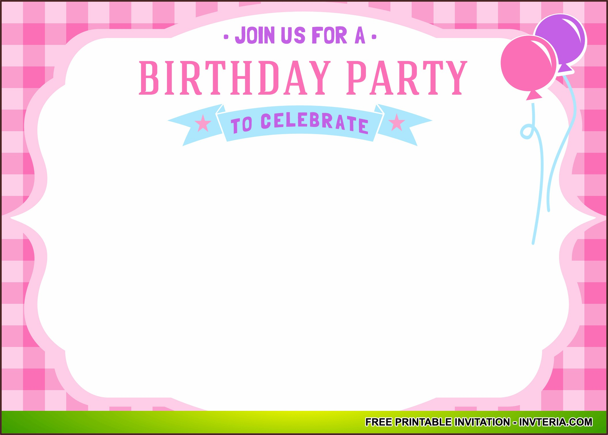 Free Printable First Birthday Invitations Girl