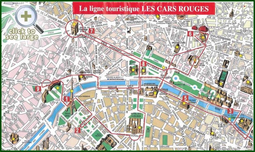 Free Printable Map Of Paris France