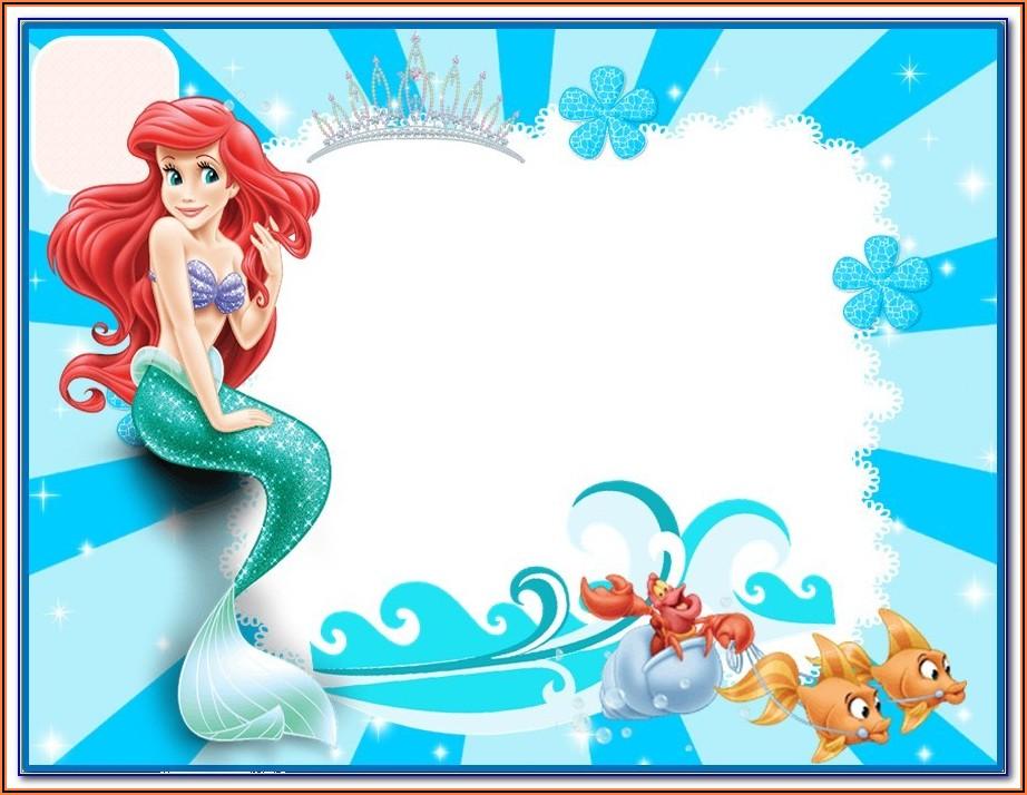 Free Printable Mermaid Birthday Invitation Templates