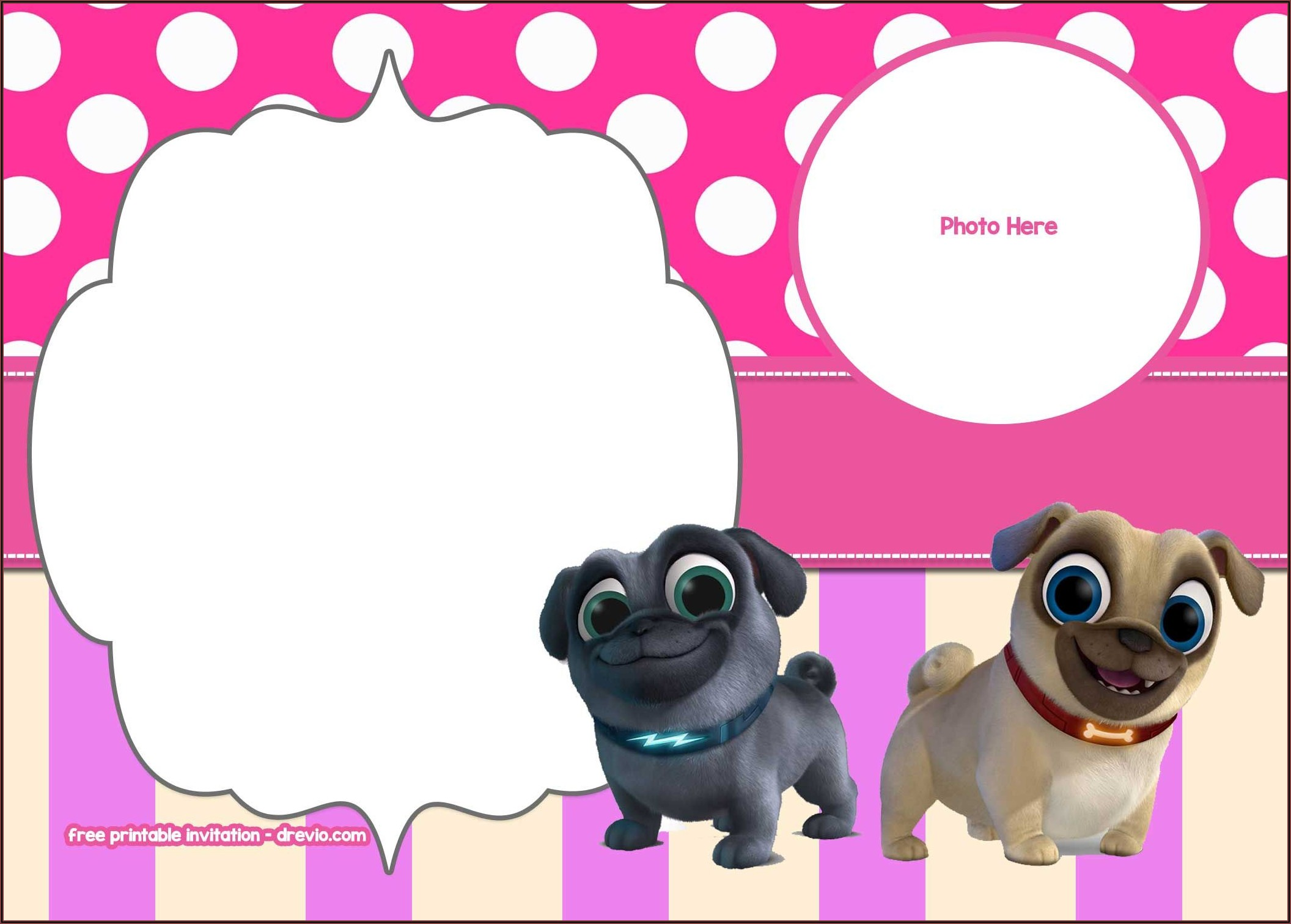 Free Printable Puppy Dog Pals Invitations