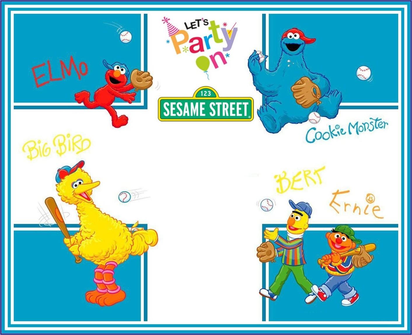 Free Printable Sesame Street Birthday Invitations Template