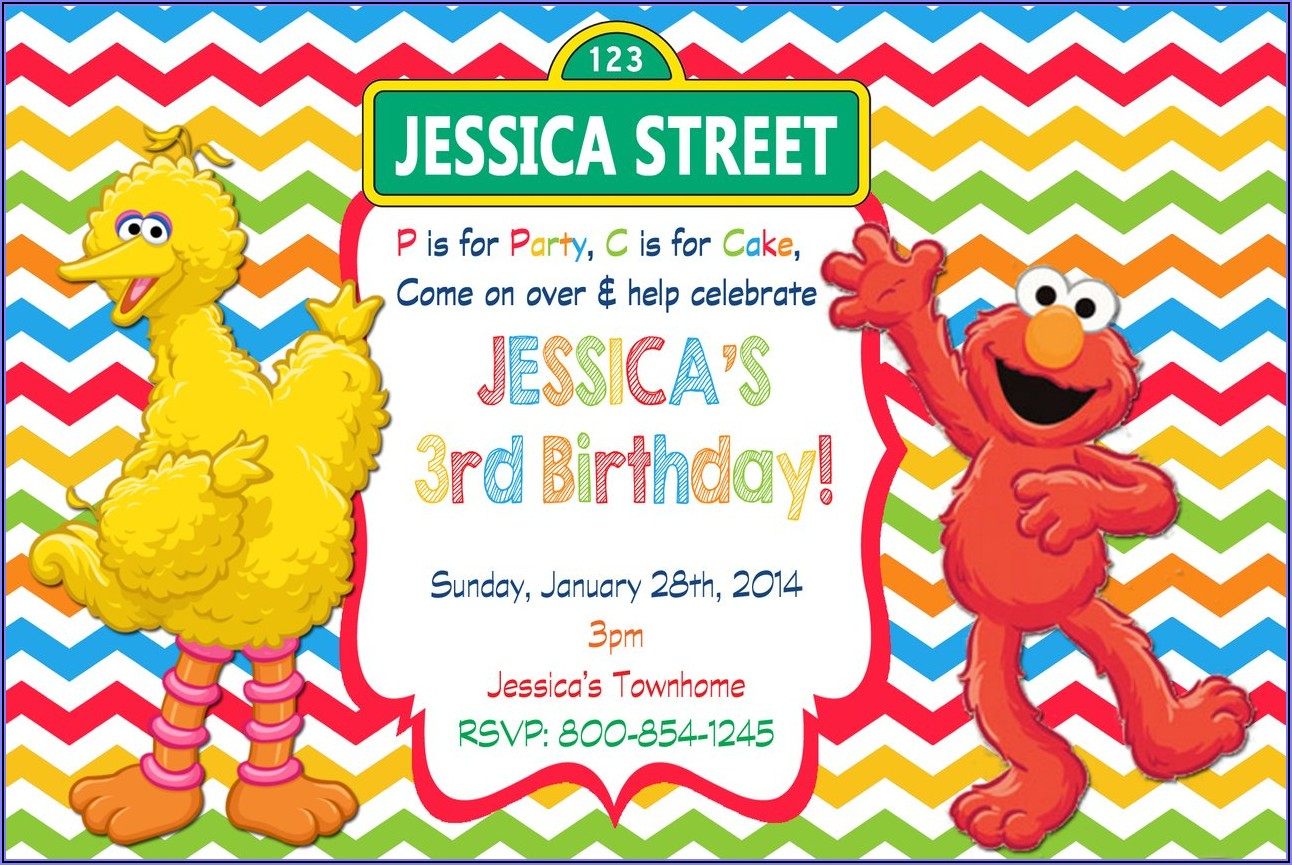 Free Printable Sesame Street Birthday Party Invitations